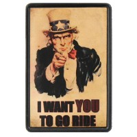I Want You to go Ride Vintage Leather Patch