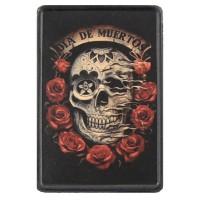 Patch Vintage en Cuir Dia de Muertos