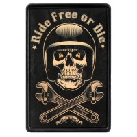 Patch Vintage en Cuir Ride Free or Die