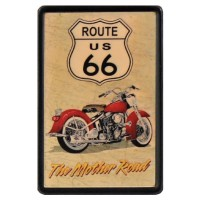 Route 66 Vintage Leather Patch