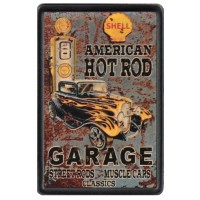 Patch Vintage en Cuir Hot Rod Garage