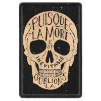 Patch Vintage en Cuir Puisque la Mort est Inévitable...