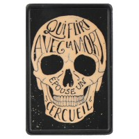 Qui Flirt avec la Mort Vintage Leather Patch