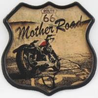 Patch Vintage en Cuir Mother Road