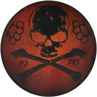 Skull Embossed Leather Patch