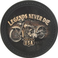 Patch vintage en Cuir Legends Never Die