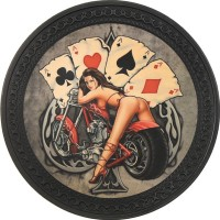 Pin Up Vintage Leather Patch