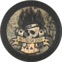 Patch vintage en Cuir No Time for Losers