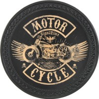 Patch vintage en Cuir Motorcycle