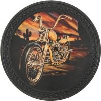 Patch vintage en Cuir Moto