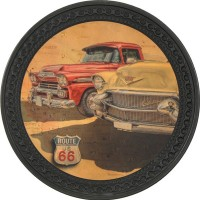 Patch vintage en Cuir American Cars