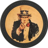 Uncle Sam Vintage Leather Patch