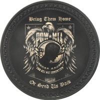 Patch vintage en Cuir Pow Mia