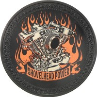Shovelhead Power Vintage Leather Patch