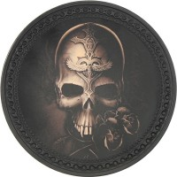 Skull & Rose Vintage Leather Patch