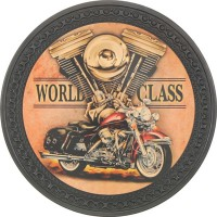 Patch vintage en Cuir World Class