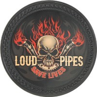 Patch vintage en Cuir Loud Pipes Save Lives