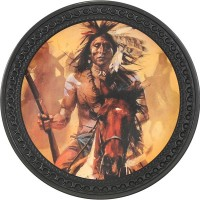 Indian Chief Vintage Leather Patch