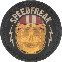 Patch vintage en Cuir Speed Freak