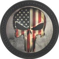 Patch vintage en Cuir American Skull