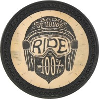 Patch vintage en Cuir 100% Ride