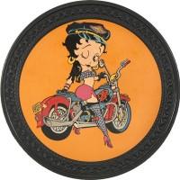 Patch vintage en Cuir Betty Boop
