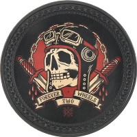 Patch vintage en Cuir Forever Two Wheels