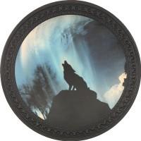 Patch vintage en Cuir Loup
