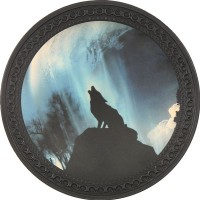 Wolf Vintage Leather Patch