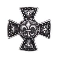 Pin's décoratif Fleur de Lys sur Croix de Malte Biker