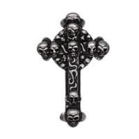 Pin's décoratif Croix & Tête de Mort Biker