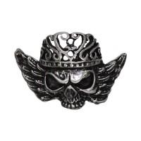 Pin's décoratif Tête de Mort Biker