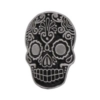 Pin's décoratif Sugar Skull Biker 100% artisanal