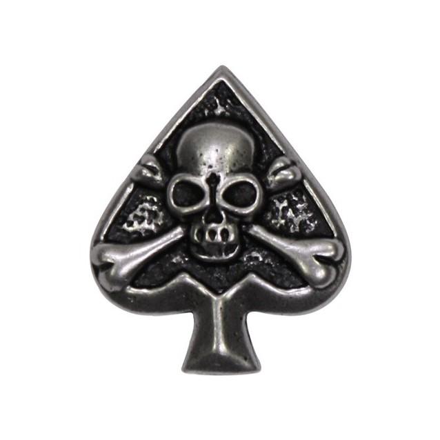 Pin's décoratif As de Pique skull Biker 100% artisanal