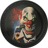 Patch vintage en Cuir Clown