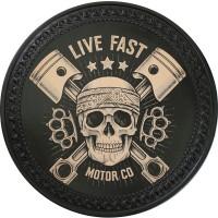 Patch vintage en Cuir Live Fast