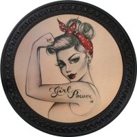 Patch vintage en Cuir Girl Power