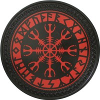 Patch vintage en Cuir Runes Viking