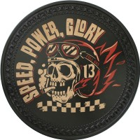 Patch vintage en Cuir Speed, Power, Glory
