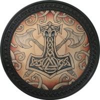 Patch vintage en Cuir Marteau de Thor