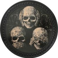 Patch vintage en Cuir Skulls de la Sagesse