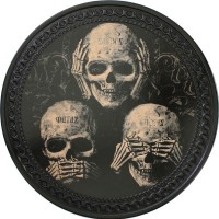 Skulls of Wisdom Vintage Leather Patch