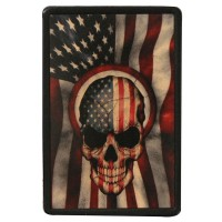American Skull Vintage Leather Patch