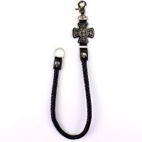 Wallet Chain Lily Flower Cross