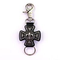 Keyring Lily flowers cross