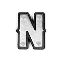 Screwable letter conchos