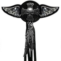 Celtic Mini Skull Wings Rivet Conchos