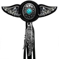 Blue Pearl Wings Rivet Conchos