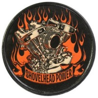 Patch Vintage en Cuir Shovelhead Power
