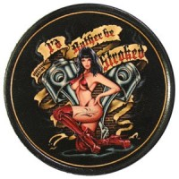 Patch Vintage en Cuir Pin-Up